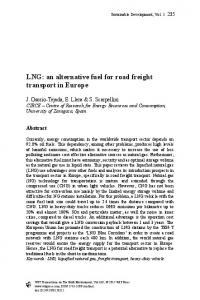 LNG: an alternative fuel for road freight transport in Europe