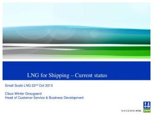 LNG for Shipping Current status