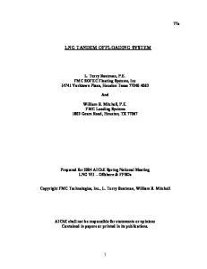 LNG TANDEM OFFLOADING SYSTEM