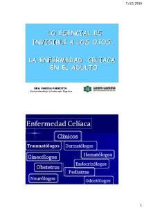LO ESENCIAL ES INVISIBLE A LOS OJOS LA ENFERMEDAD CELIACA EN EL ADULTO