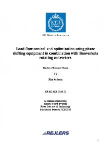 Load flow control and optimization using phase shifting equipment in combination with Banverkets rotating converters