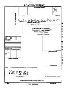 LOAN DOCUMENT PHOTOGRAPH THIS SHEET