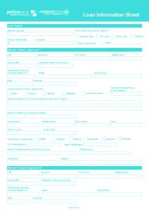 Loan Information Sheet