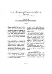 Local e-government Information and Service Delivery