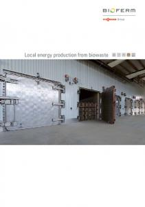 Local energy production from biowaste