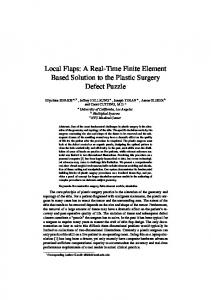 Local Flaps: A Real-Time Finite Element Based Solution to the Plastic Surgery Defect Puzzle