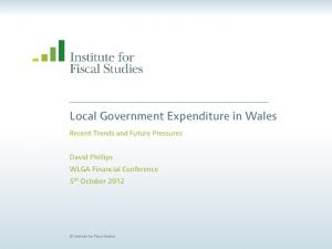 Local Government Expenditure in Wales