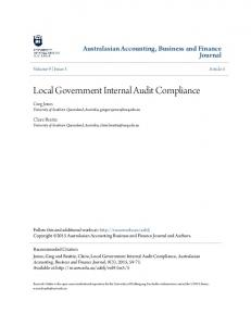 Local Government Internal Audit Compliance