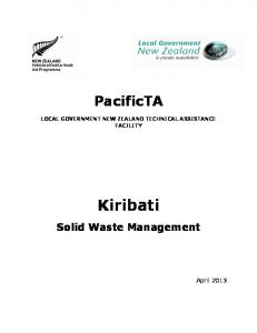 LOCAL GOVERNMENT NEW ZEALAND TECHNICAL ASSISTANCE FACILITY