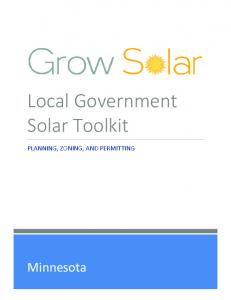 Local Government Solar Toolkit