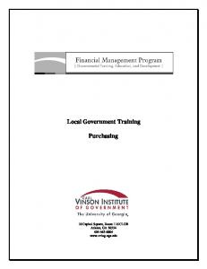 Local Government Training Purchasing