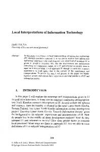 Local Interpretations of Information Technology