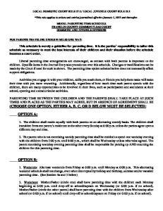 LOCAL JUVENILE COURT RULE 22.1