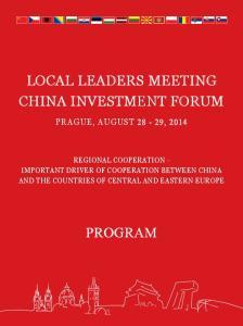 LOCAL LEADERS meeting. program