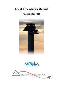 Local Procedures Manual. Stockholm TMA