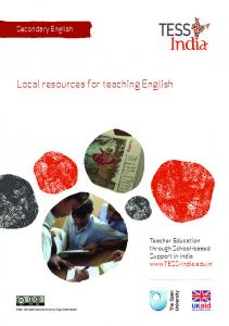 Local resources for teaching English