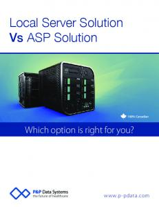 Local Server Solution Vs ASP Solution