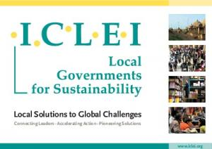 Local Solutions to Global Challenges Connecting Leaders - Accelerating Action - Pioneering Solutions