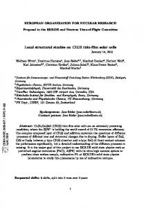 Local structural studies on CIGS thin-film solar cells