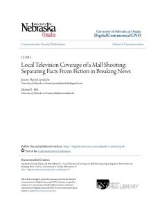 Local Television Coverage of a Mall Shooting: Separating Facts From Fiction in Breaking News