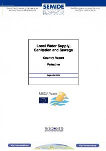 Local Water Supply, Sanitation and Sewage