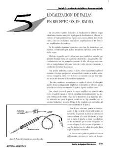 LOCALIZACION DE FALLAS EN RECEPTORES DE RADIO