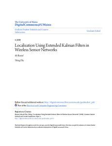 Localization Using Extended Kalman Filters in Wireless Sensor Networks