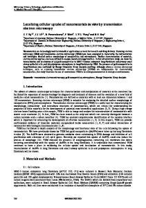 Localizing cellular uptake of nanomaterials in vitro by transmission electron microscopy