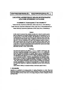 LOCATING ASPERITIES BY MEANS OF STOCHASTIC ANALYSIS OF SEISMIC CATALOGS