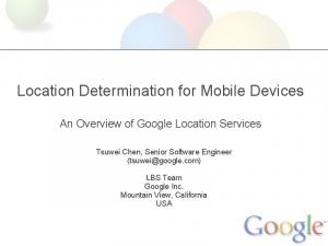 Location Determination for Mobile Devices