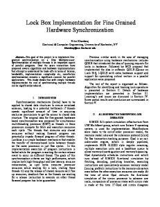 Lock Box Implementation for Fine Grained Hardware Synchronization
