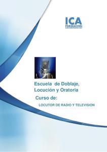 LOCUTOR DE RADIO Y TELEVISION