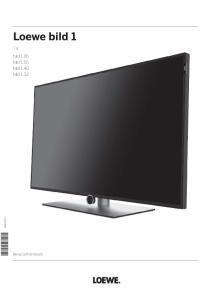 Loewe bild 1. TV bild 1.65 bild 1.55 bild 1.40 bild Benutzerhandbuch