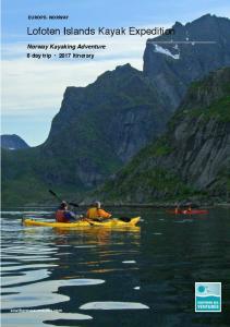 Lofoten Islands Kayak Expedition