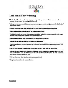 Loft Bed Safety Warning