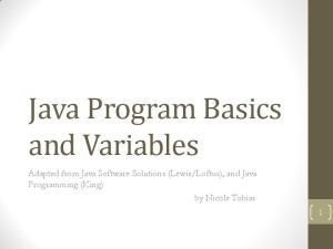 Loftus), and Java Programming (King) by Nicole Tobias