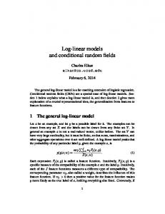 Log-linear models and conditional random fields