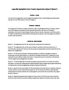 Loganville-Springfield Parent Teacher Organization Bylaws ( Bylaws )