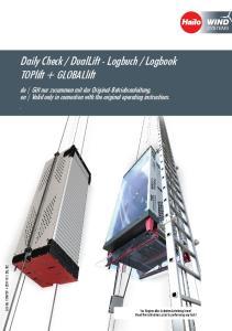 Logbook TOPlift + GLOBALlift