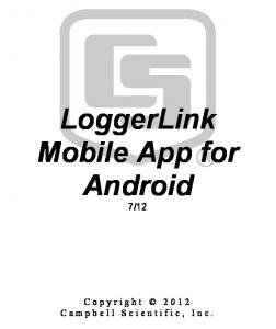 LoggerLink Mobile App for Android