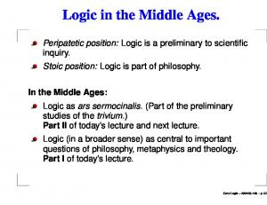 Logic in the Middle Ages