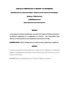 LOGICA DE LA LARINGOMALACIA Y LA DISARTRIA Y SU APLICABILIDADA