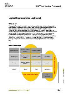 Logical Framework (or LogFrame)