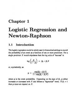 Logistic Regression and Newton-Raphson