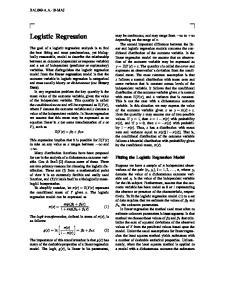Logistic Regression. Fitting the Logistic Regression Model BAL040-A.A.-10-MAJ
