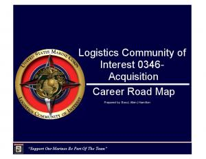 Logistics Community of Interest Acquisition Career Road Map