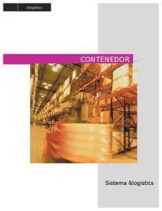 &logistics CONTENEDOR. Sistema &logistics