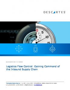Logistics Flow Control: Gaining Command of the Inbound Supply Chain