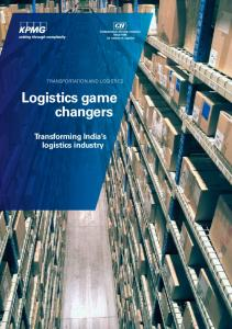Logistics game changers Transforming India s logistics industry