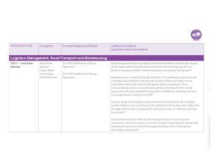 Logistics Management, Road Transport and Warehousing